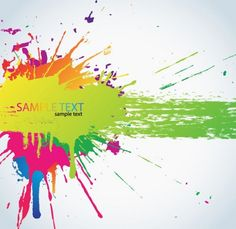 Colorful Paint Splats Vector Background - http://www.dawnbrushes.com/colorful-paint-splats-vector-background/