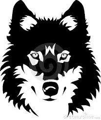 wolf outline - Google Search