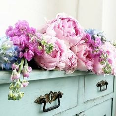 Image via We Heart It #flowers #lavender #lightgreen #pastels #pink #pretty #shabbychic