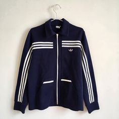 Vintage adidas Tracksuit 70's Blue by DisordineVintageShop on Etsy https://www.etsy.com/listing/485953798/vintage-adidas-tracksuit-70s-blue