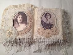 Fabric Lace Photo Memory Album Fabric Memory by Darlinghomemade