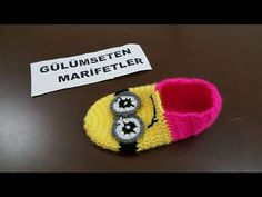 How to easy crochet minion baby and child booties making - Harika El işleri-Hobiler Learn To Crochet, Easy Crochet, Crochet Baby, Viking Tattoo Design, Viking Tattoos, Crochet Boots, Crochet Slippers, Minion Baby, Minion Crochet