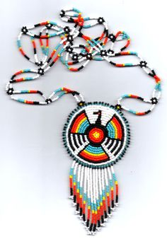 Image detail for -Native American Made Multi-Colored Thunderbird Medallion Necklace, and ...