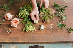 Create a flower crown with fresh or silk flowers