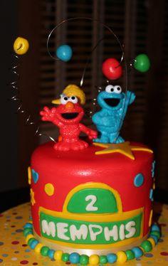 Sesame Street. Elmo and Cookie Monster Cake