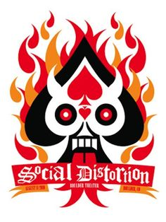 Artist: Dan Stiles  For the: Social Distortion  Date: 11th August 2010  Dimensions: 18 x 24 inches  Signed and numbered edition of: 200