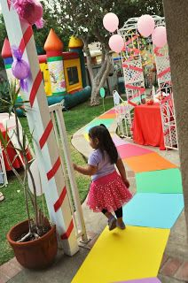 how to make a candyland walkway
