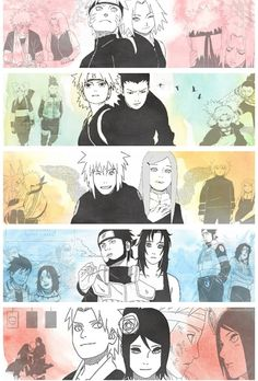 Naruto. This is a cool montage picture, even though most of the couples (besides Asuma-Kurenai and Minato-Kushina) aren't official couples.