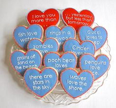 Cool Valentine's cookies ideas if you plan on showing some lovin' from the oven |  love you more than… cookies from Kelley Hart Cookies