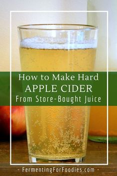 How to Make Hard Apple Cider From Juice - Fermenting for Foodies cider recipes for beginners Homemade Apple Juice, Homemade Wine Recipes, Homemade Alcohol, Homemade Apple Cider, Apple Cider Recipe From Apple Juice, Homemade Liquor, Hard Apple Cider, Apple Cider Donuts, Granny Smith