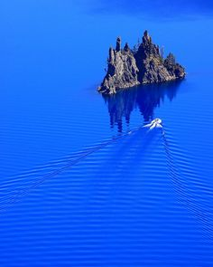 IMG_1999 Boat Tour Approaching Phantom Ship, Crater Lake National Park by ThorsHammer94539 on Flickr.