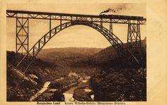 Historische Ansichtskarte / vintage picture postcard: Müngstener Brücke between Solingen and Remscheid