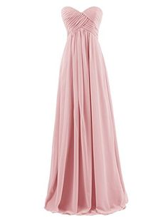 08bb9505065 Dresstells Sweetheart Bridesmaid Chiffon Prom Dresses Long Evening Gowns at Amazon  Women s Clothing store