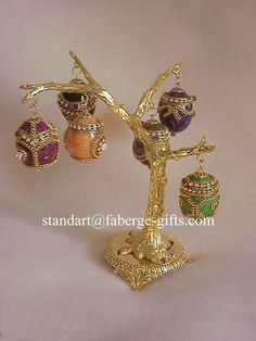 Empress Alexandra Russian Egg Tree 6 Opening Egg Pendants Faberge Necklace | eBay