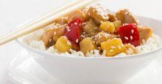 Propriétaire de mijoteuse...Cette recette de poulet aux ananas est pour vous Asian Recipes, Ethnic Recipes, Mets, Homemade Gifts, Fruit Salad, Risotto, Potato Salad, Crockpot, Oatmeal