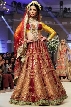 HUM Network Telenor Bridal Couture Week Day 1 hit with the bang with magnificent designer collection by Ali Xeeshan at Faletti's Hotel, Lahore.
