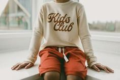 classic pullover   kids club - HAVEN KIDS Clothing Ltd. French Terry, Graphic Prints, Screen Printing, Kids Outfits, Graphic Sweatshirt, Pullover, Club, Kids Clothing, Sweatshirts
