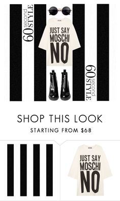 """""""T SHIRT DRESS"""" by amltra ❤ liked on Polyvore featuring Graham & Brown, Moschino, tshirtdresses and 60secondstyle"""