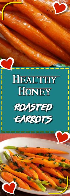Healthy Honey Roasted Carrots #glutenfreerecipes gluten free recipes #easyrecipes easy recipes #recipeoftheday recipe of the day #sugarfree sugar free recipes #stirfry stir fry recipes #cleaneating clean eating recipes