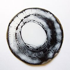 amanda denison brooch. industrial enamel on steel