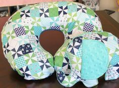 Modern, Boppy Pillow Cover and Matching Elephant- Designer Fabric - -Navy Blue, Teal, Peach or Green - Minky by RoseyBabyCheeks on Etsy https://www.etsy.com/listing/225478636/modern-boppy-pillow-cover-and-matching