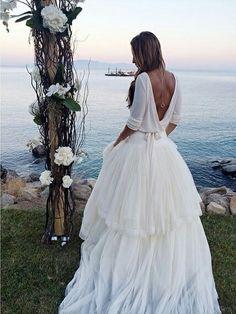 Sara Boruc's wedding dress, amazing