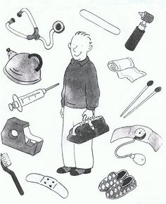 health image to speak Senses Activities, Book Activities, Job Pictures, Hospital Health, Kindergarten, Community Workers, English Exercises, Health Images, Tangle Doodle