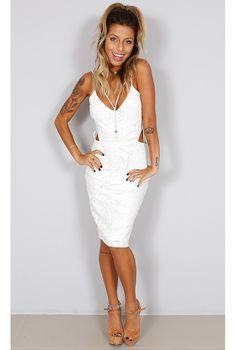 Vestido Renda Tiras - fashioncloset