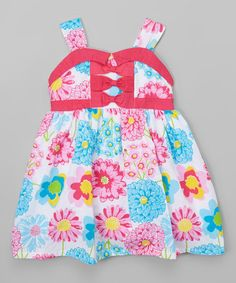This Fuchsia Floral Apron Dress - Toddler & Girls is perfect! #zulilyfinds