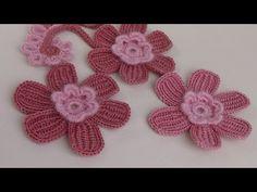 УРОКИ ВЯЗАНИЯ. Цветок вязаный крючком с лепестком из витого столбика. crochet flower. - YouTube