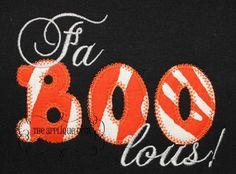 Halloween Faboolous Digital Embroidery Design Machine Applique. $2.99, via Etsy.