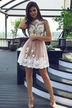 pink homecoming dresses,tulle homecoming dresses,lace homecoming dresses,homecoming dresses short