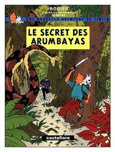 Le secret des Arumbayas by Yves Rodier Cover Pages, Cover Art, Book Covers, Tin Tin Cartoon, Album Tintin, Good Books, My Books, Herge Tintin, Ligne Claire
