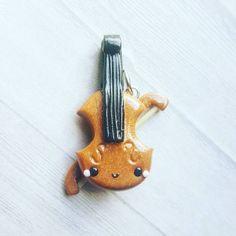 #kawaii #charms #polymer #clay #violin