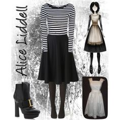Designer Clothes, Shoes & Bags for Women Alice Liddell, Masquerade Dresses, Alice Madness Returns, Polyvore Outfits, Polyvore Fashion, Cosplay Dress, Themed Outfits, Character Outfits, Lolita Fashion