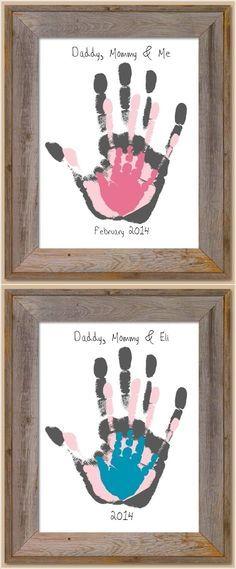 "Marca das mãos da família, encantador! Kit completo! ""Family handprint, so sweet!"""