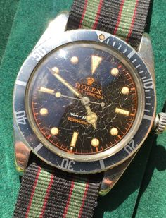 ROLEX Submariner #5508 gilt turned copper.