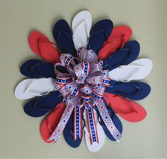 DIY Flip Flop 4th Of July Wreath