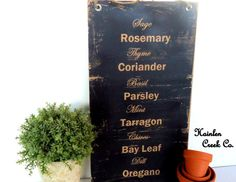 Rustic Country Primitive Decor Herb Sign Wall by HainlenCreekCo, $19.99