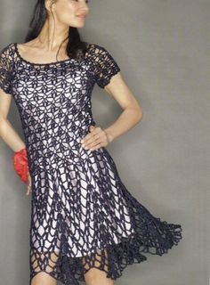 Crochet Dress Overlay: free #crochet pattern