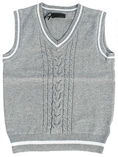 Fouger Little Boys' Sweater Vest with Trim -- Read more @