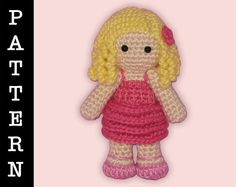 Amigurumi Galinda from Wicked doll by ShadyCreations - pattern available on Ravelry, pattern and completed doll available on Etsy