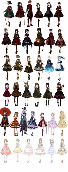 Amazing lolita designs by http://unluckyless.lofter.com/post/3b4dc3_16263f9