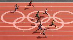 Adam Gemili and Asafa Powell lead the field in the men's 100m