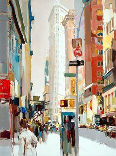 """""""Flatiron Building,NYC"""" by Josef Kote size 48x36"""