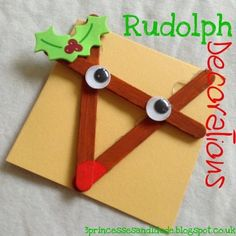 Countdown to Christmas. Craft. Rudolph Decoration.