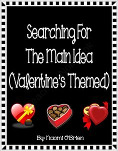 Main Idea and Details: Valentine's Themed (Common Core) product from Read-Like-A-Rock-Star on TeachersNotebook.com