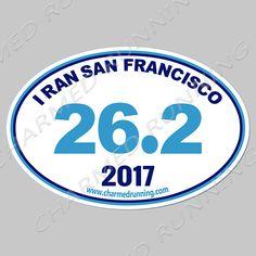 Marathon 26.2 Removable Matte Sticker Sheets Set