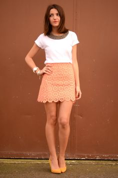 coral skirt - Lovely Pepa by Alexandra