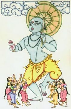 5.Vamana Avatar-Vishnu visited Bali as Vamana during a sacrifice where the latter was arrogantly distributing gifts of the seeker's choice. Vamana meekly asked for three feet of land measured by his small feet. All of a sudden he assumed the massive form of Trivikrama, dominating the universe; with his first foot he covered the earth, with the second the heavens. When there was no room for the third, Bali, who never went back on his word offered his head, and Vishnu sent him to the…